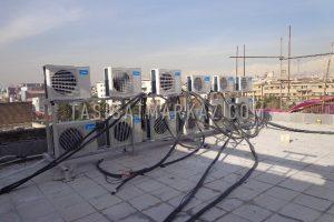 طراحی و اجراء سیستم های الکتریکال و مکانیکال پروژه اداری تجاری چهل کتاب